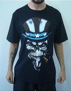 Camiseta Caveira Tio Sam