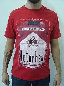 Camiseta Motorhead - Malboro - vermelha