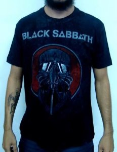 Camiseta Mesclada Black Sabbath Never Say Die