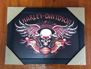 Quadro - Harley Davidson - Biker to the Bone