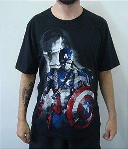 Camiseta Promocional - Capitão América - Guerra Civil