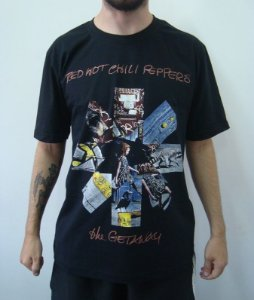 Camiseta Promocional - Red Hot Chili Peppers - The Getaway
