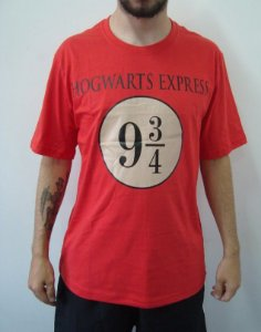 Camiseta Promocional - Harry Potter - hogwarts Express 9 3/4