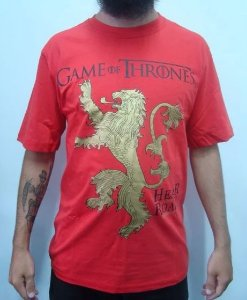 Camiseta Game of Thrones - Lannisters