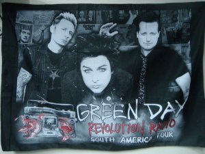 Bandeira Green Day - Revolution Radio Tour