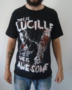 Camiseta The Walking Dead - Negan - This is Lucille, She is Awesome