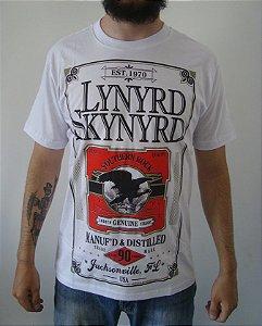 Camiseta branca Lynyrd Skynyrd - Southern Rock