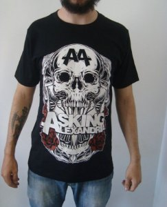 Camiseta Asking Alexandria - A4 Skull