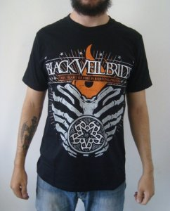 Camiseta Black Veil Brides - This heart of Fire...