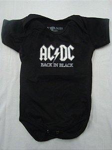 Body para bebês - AC DC - Back in Black
