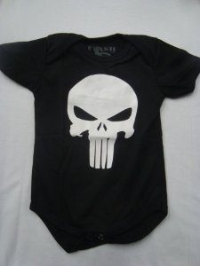 Body para bebês - Justiceiro - Punisher
