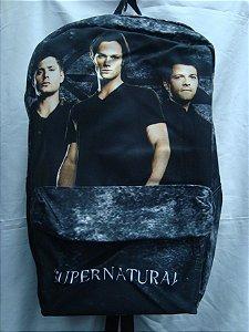 Mochila Escolar - Supernatural - Sam, Dean, Castiel