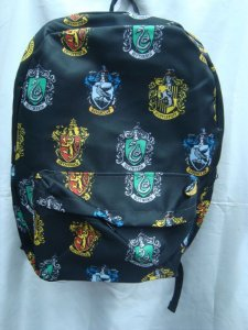 Mochila Escolar - Harry Potter - Grifinória, Sonserina, Lufa Lufa, Cornival