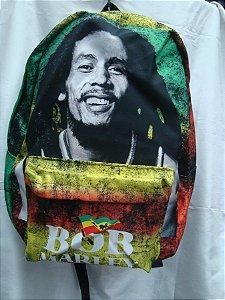 Mochila Escolar - Bob Marley