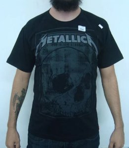 Camiseta Metallica - The Black Album Skull