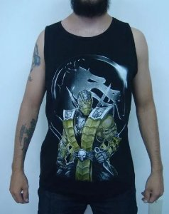 Camiseta Regata - Mortal Kombat - Scorpion