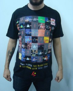 Camiseta Pink Floyd - Dark Side of the Moon 40th Anniversary