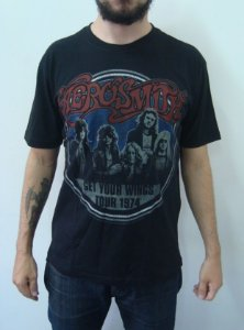 Camiseta Aerosmith - Get your wings tour 1974