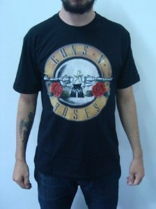 Camiseta Guns and Roses - Símbolo clássico