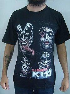 Camiseta Kiss - Zumbis