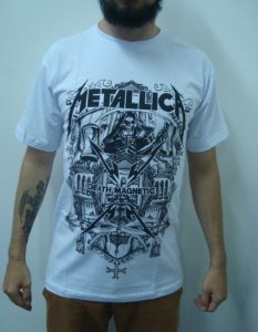 Camiseta Metallica - Branca - Death Magnetic