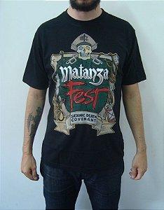 Camiseta Matanza - Matanza Fest - Satanic death covenant