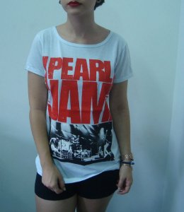 Baby look feminina - Pearl Jam