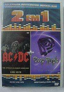 DVD 2 em 1 - AC DC + Deep Purple