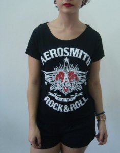 Baby look Customizada - Aerosmith - Authentic Rock