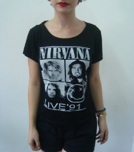 Baby look Customizada - Nirvana - Live '91