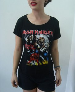 Baby look customizada - Iron Maiden - The Number of the Beast