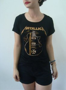 Baby look customizada - Metallica