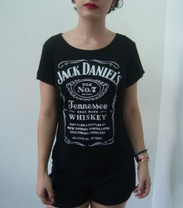 Baby Look Customizada - Jack Daniels