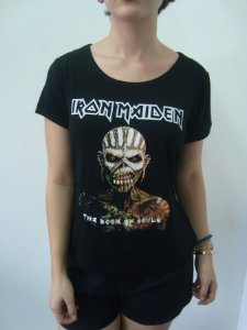 Baby look customizada - Iron Maiden - The Book of Souls