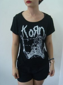 Baby look feminina customizada - Korn