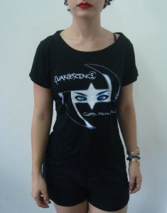 Baby look customizada - Evanescence - Fallen