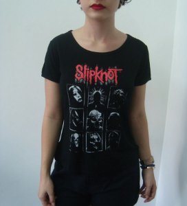 Baby look customizada - Slipknot