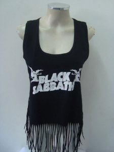 Regatinha feminina customizada - Black Sabbath