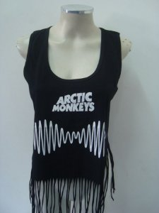 Regatinha feminina customizada - Arctic Monkeys