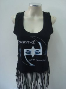 Regatinha feminina customizada - Evanescence - Fallen