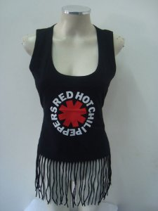 Regatinha feminina customizada - Red Hot Chili Peppers