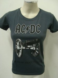 Baby look feminina AC DC - For those about to rock