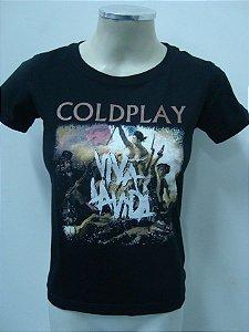 Baby look feminina Coldplay - Viva la vida