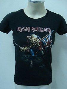 Baby look feminina Iron Maiden - The trooper
