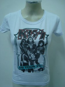 Baby look feminina Kiss - Us Tour 76