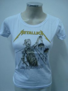 Baby look feminina - Metallica - And Justice for All