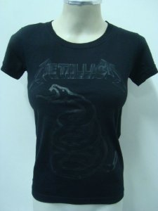 Baby look feminina - Metallica - Black Album