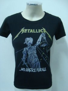 Baby look feminina Metallica - And Justice for All