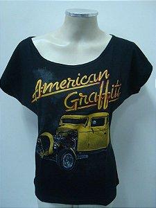 Blusinha gola canoa - American Graffitti