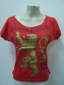 Blusinha gola canoa - Game of Thrones - Hear me Roar - Lannisters